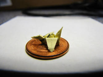 Tiny Paper Crane by Kaatman