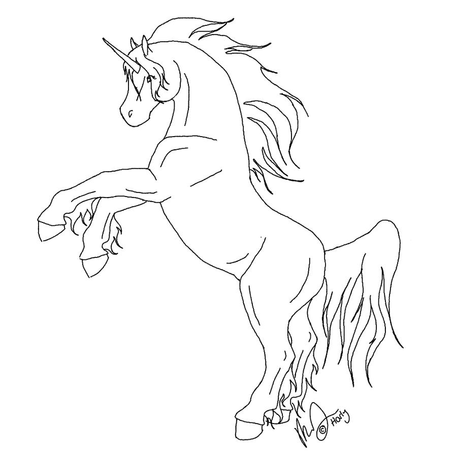 Line Art Unicorn : Unicorn line art by harlequin wondercat on deviantart