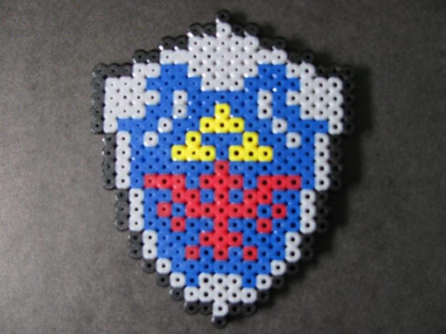 Perler Bead Hylian Shield by EP-380