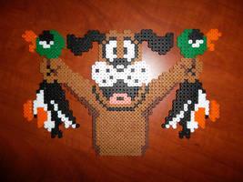 Perler Bead Duck Hunt Dog