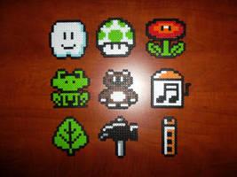 Perler Bead Mario Items by EP-380