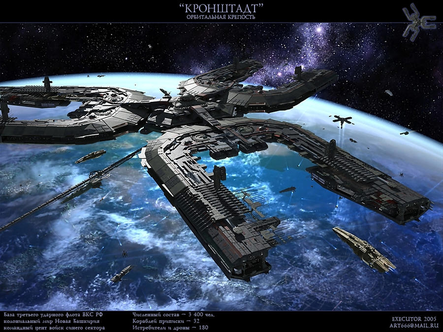 Orbital fortress by SmirnovArtem on DeviantArt