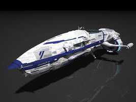 Space ship, civil ship by SmirnovArtem