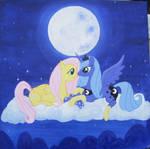 Fluttershy and Luna in Socks