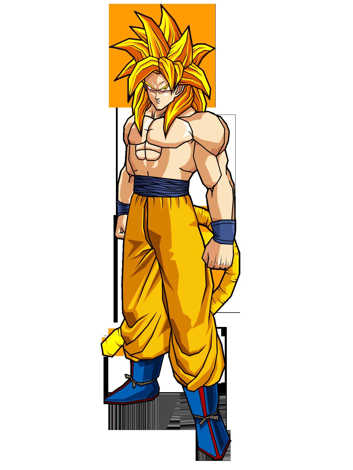 Goku Half SSJ4 by SpongeBoss