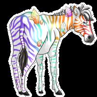 Rainbowy Crystaly Zebra-y Baby
