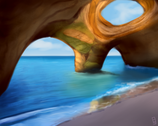 Beach Cave by Bloopaloozer