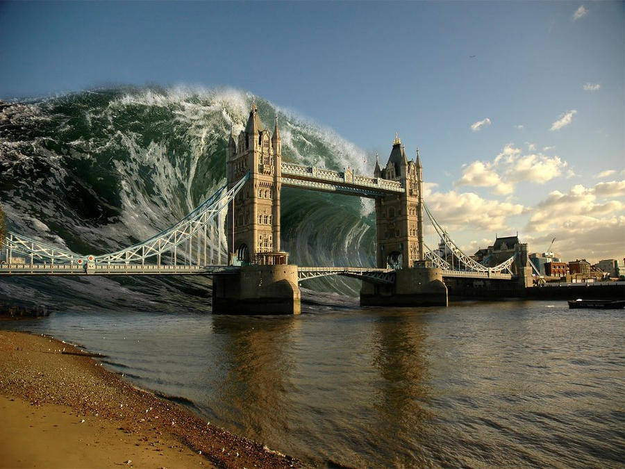 London Bridge Tsunami by jhrabak