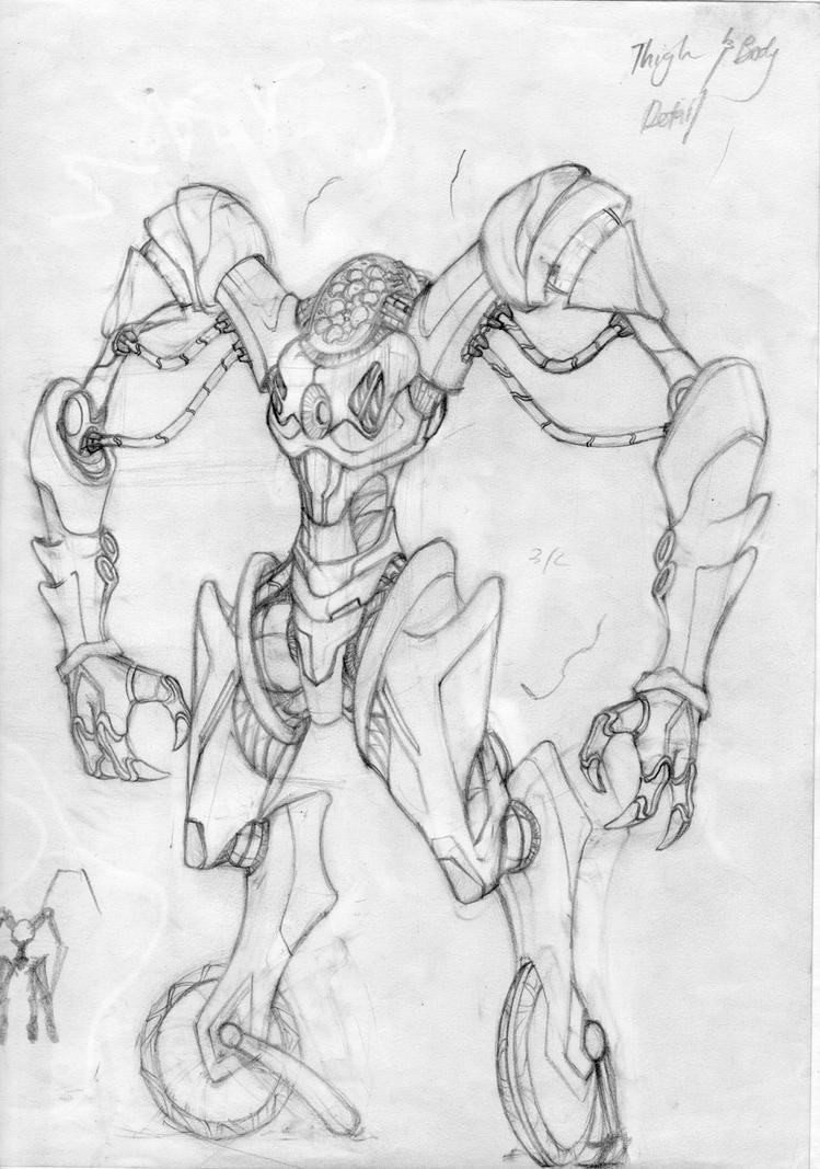 tekenen cool robot