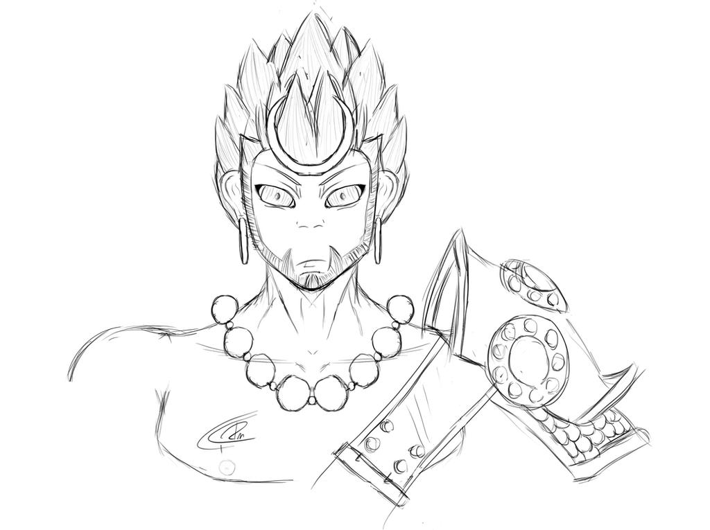 It is a photo of Monster Sun Wukong Drawing
