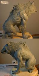 Werewolf Sculpture - Views by piajartist