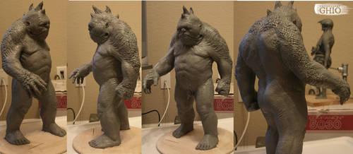 Grey Beast Maquette by piajartist