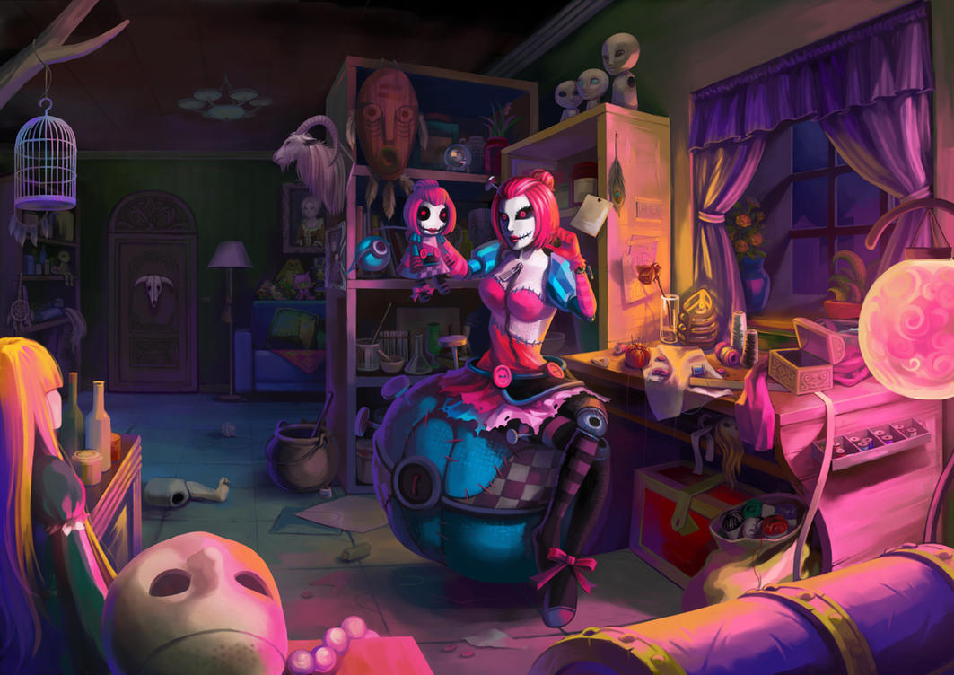 LOL - Sewn Chaos Orianna's Private Room by LamierFang