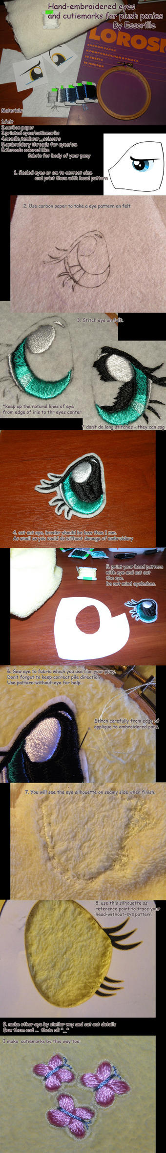Handembroidered Plush Eyes Tutorial By Essorille