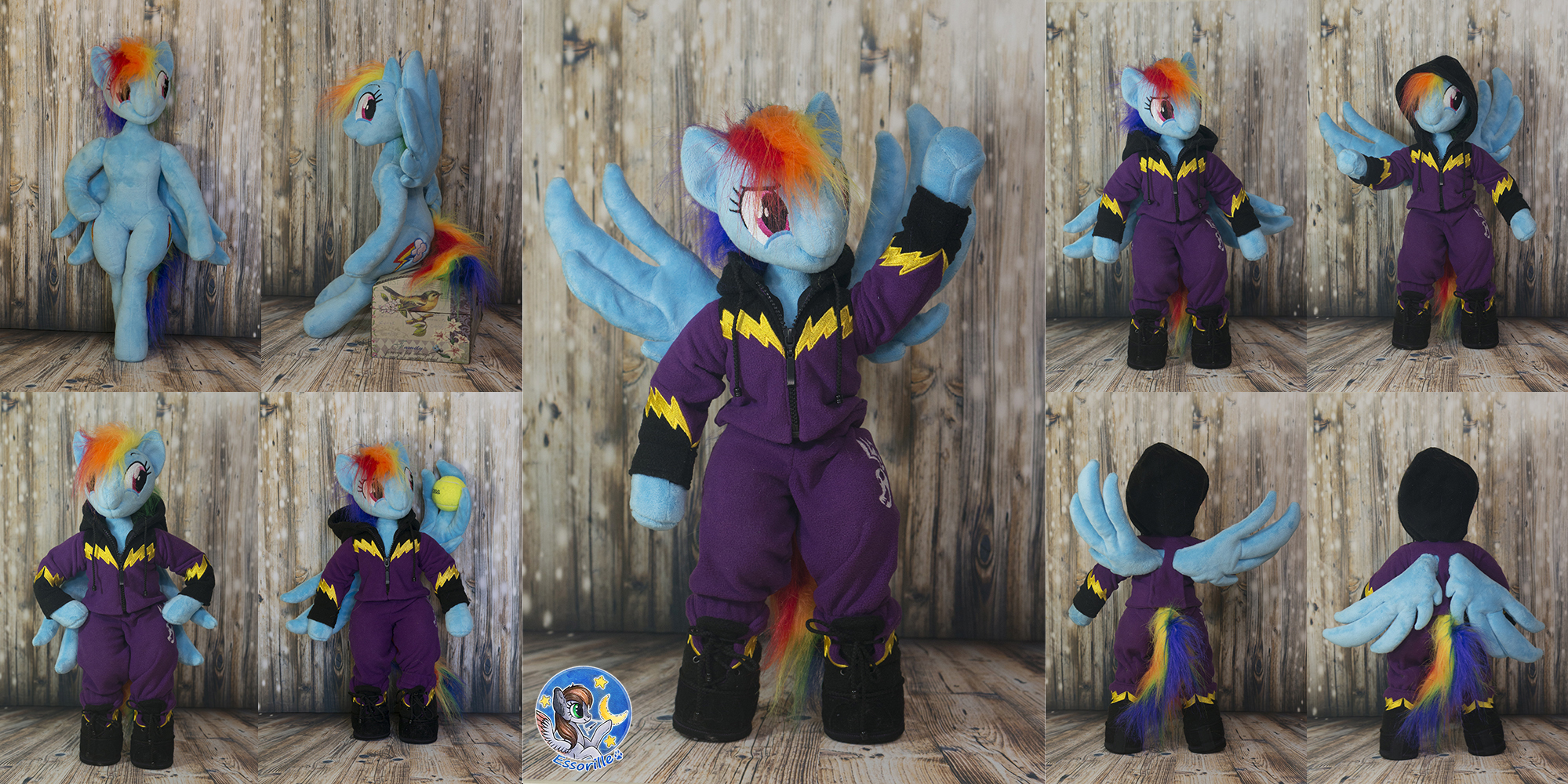Posable Anthro Shadowbolt Rainbow Dash By Essorille On