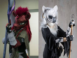Portraits - Tempest and Zecora cosplay by Essorille