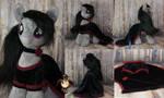 Octavia in black dress