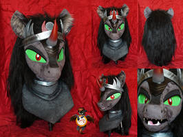 King Sombra fursuit head