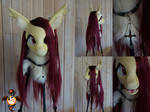 Flutterbat fursuit head by Essorille
