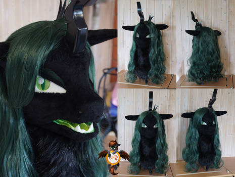 Queen Chrysalis fursuit head