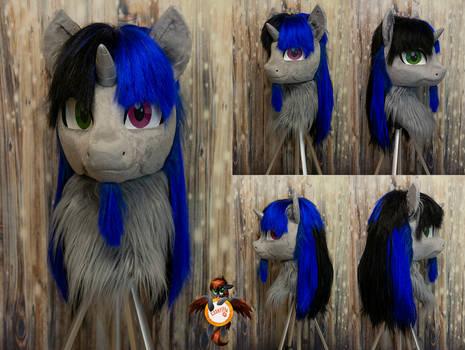 Blue Paint mlp OC fursuit head