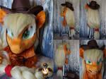 Applejack fursuit head by Essorille