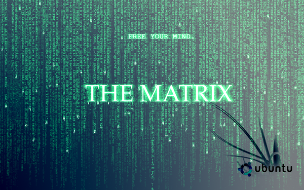 matrix wallpaper. Ubuntu and Matrix Wallpaper by