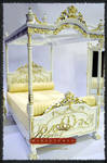 Regent Miniatures Piano 1:6 scale white satin