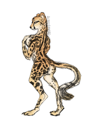 Anthro King Cheetah (Comm) by Alissa1010