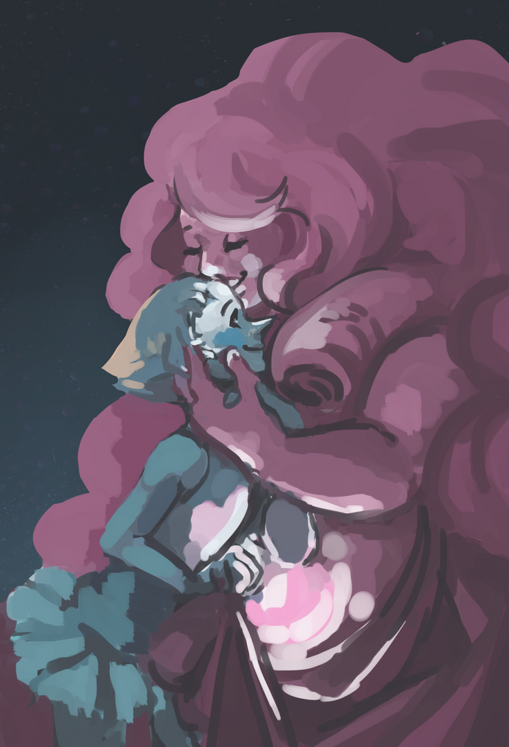 Pearl and Rose for my Valentine requests on my tumblr! (for Mayo).  I really love quartz gems, they're so huge and fluffy   Steven Universe (c) CN and Becca Sugar
