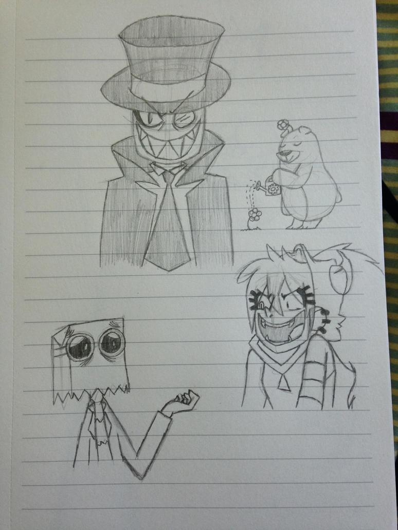 Villainous Doodles by Ninja-Keyboard