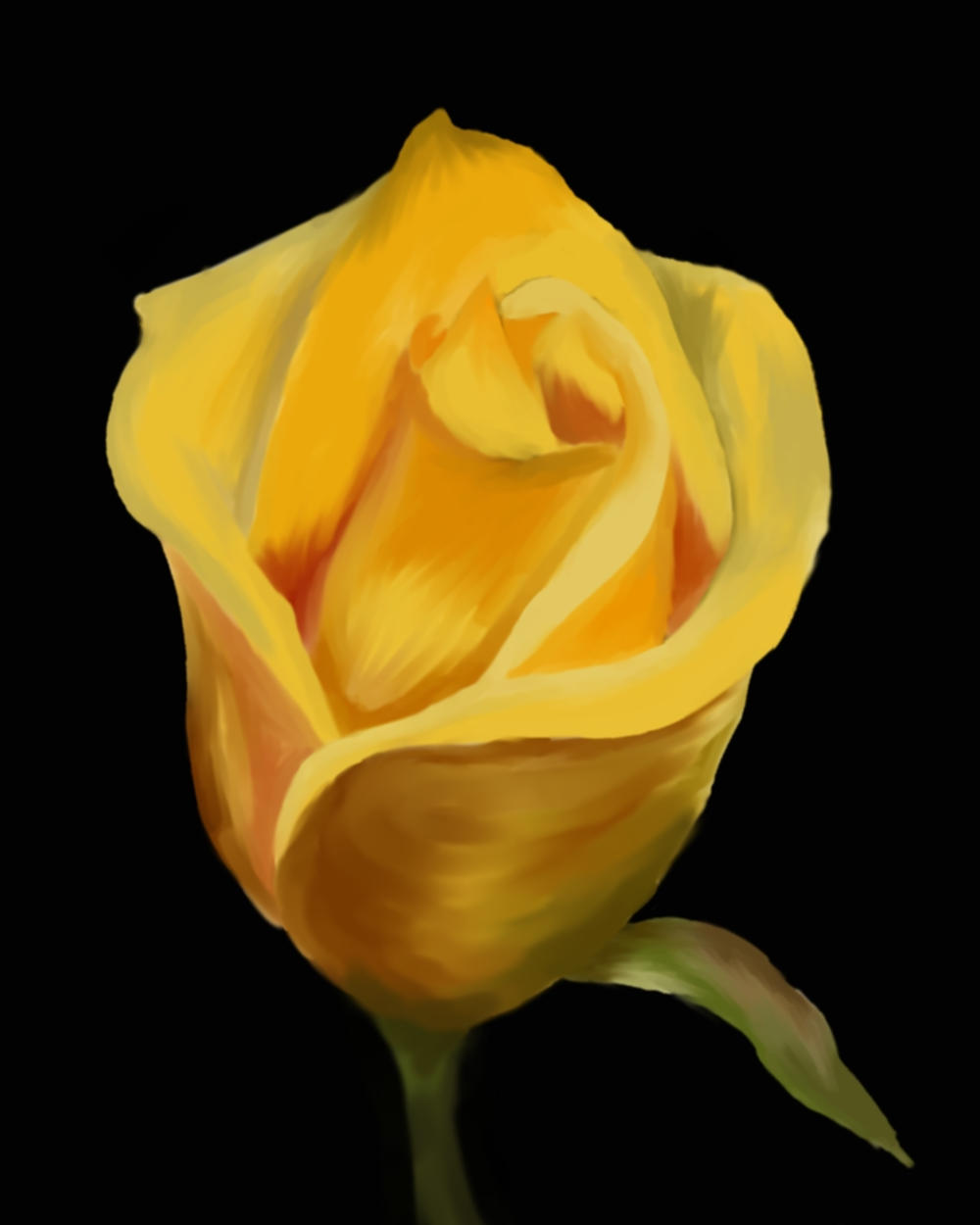 Texas Yellow Rose With Watercolor Jerusalem House