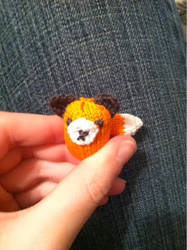 Mini Knit Fox by vampirenova