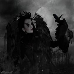 Queen of ravens by magicsart