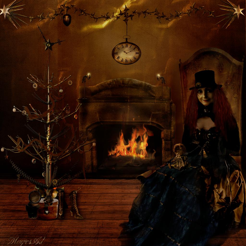 Steampunk Xmas by magicsart