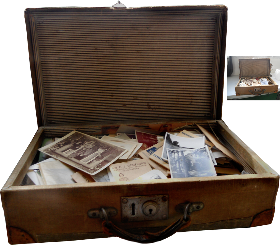 old suitcase with photos by magicsart on deviantart