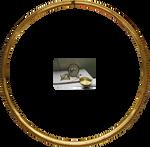 Gold Frame Round Clock Part