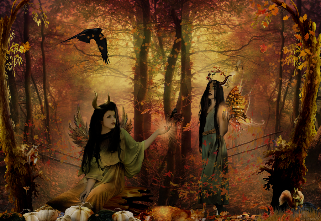 autumn fairy dryads by magicsart