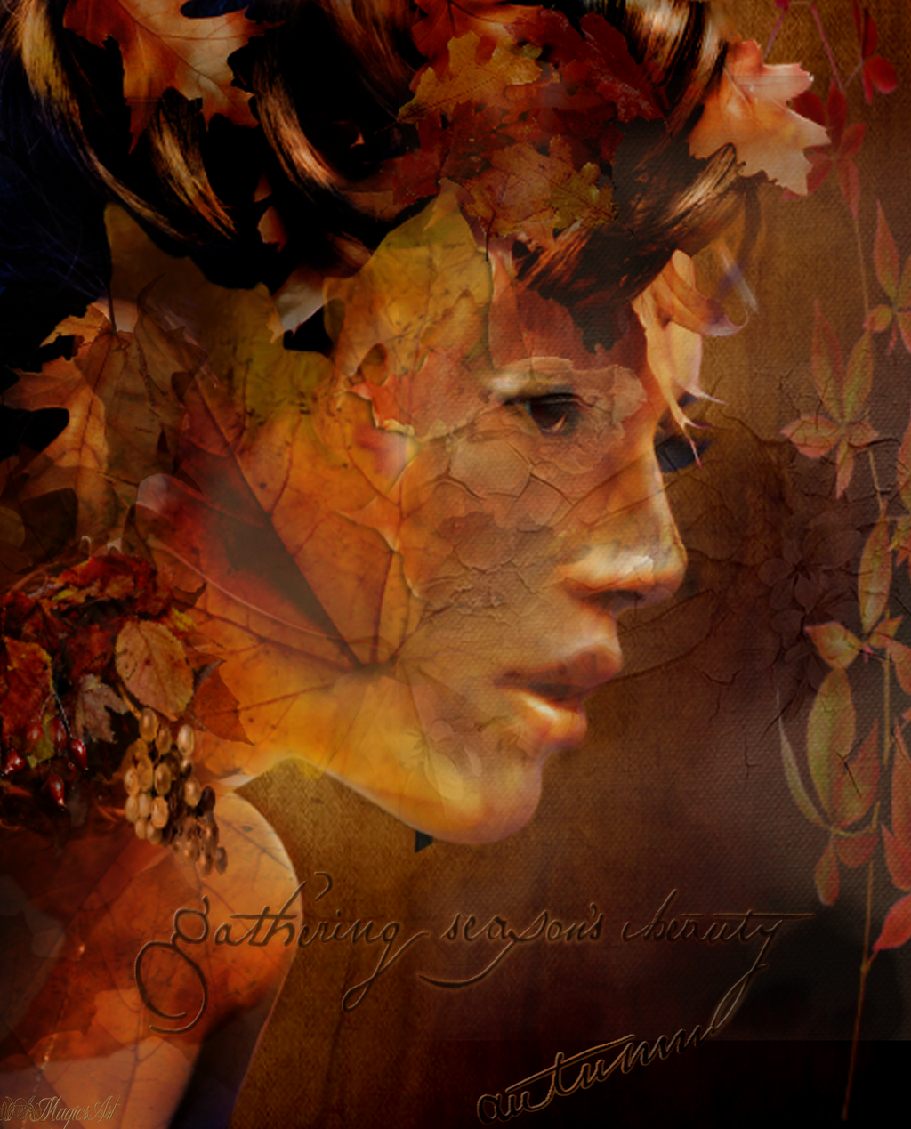 The Face Of Autumn by magicsart