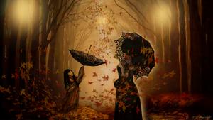 autumn light by magicsart