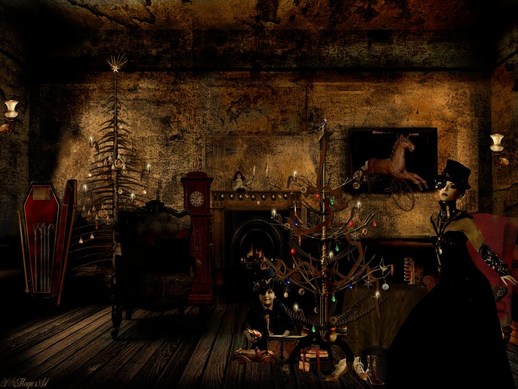 Victorian Steampunk Xmas by magicsart