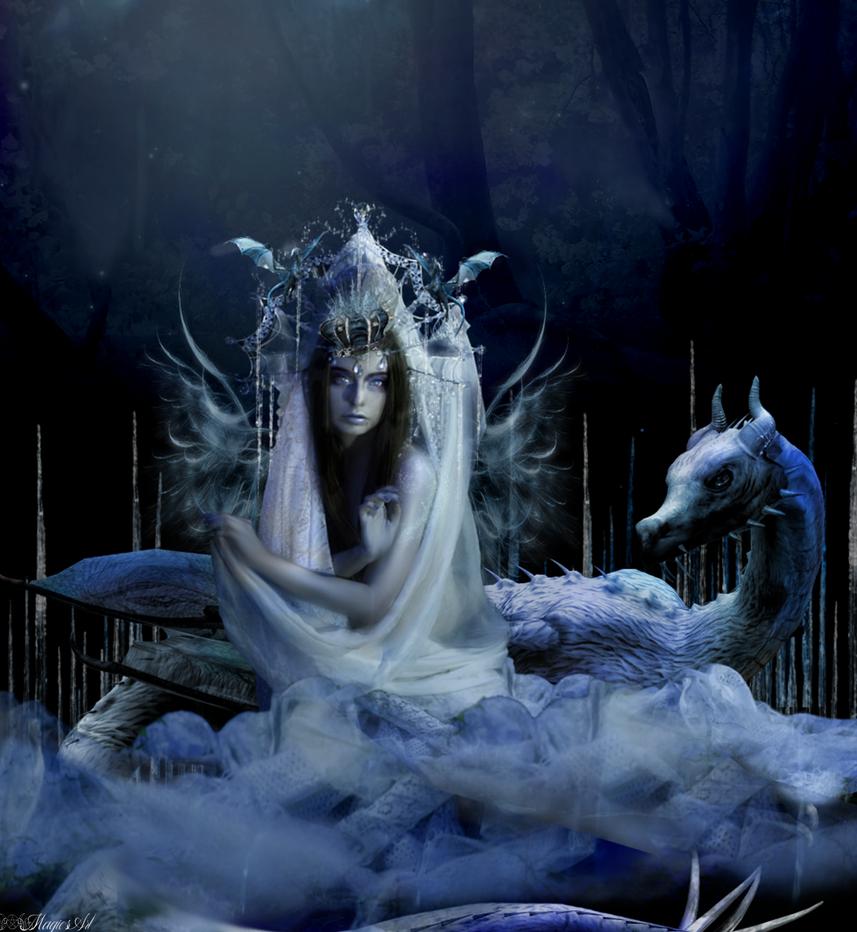 Dragons Winter  Queen by magicsart