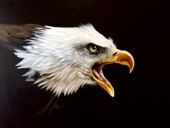 Bald Eagle - Acrylic Painting by Kuvari