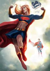 Supergirl always Flexing! by ellinsworth