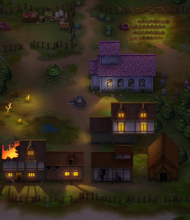 Exposição de mapas Town_map_night_by_davidbrowne-dazdsc8