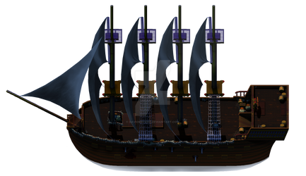Side view of Ghost Ship