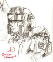 Megatron and a Seeker by LagunaL8
