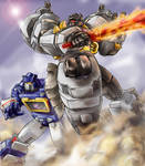 Soundwave and Grimlock