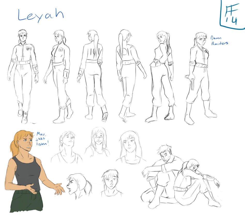 Leyah Character Study by Silverwing100