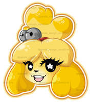 Isabelle Sticker Design by pandadough